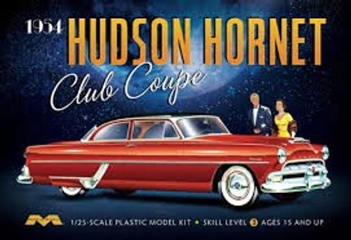 MOE-1213  1/25 1954 Hudson Hornet Club Coupe Car
