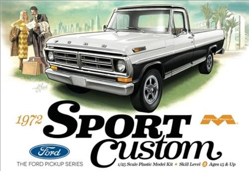 MOE-1220  1/25 1972 Ford Sport Custom Pickup Truck