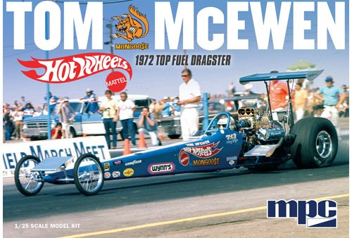 MPC-855  1/24 Tom Mongoose McEwen 1972 Top Fuel Rear Engine Dragster