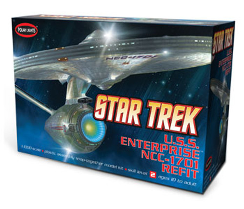 PLL-820  1/1000 Star Trek USS Enterprise NCC1701 Refit (Snap)