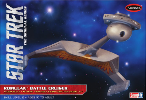 PLL-897  1/1000 Star Trek The Original Series Romulan Battle Cruiser (Snap)