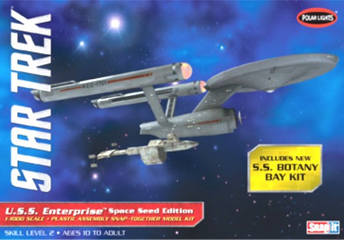 PLL-908  1/1000 Star Trek USS Enterprise Space Seed Edition & SS Botany Bay (Sna