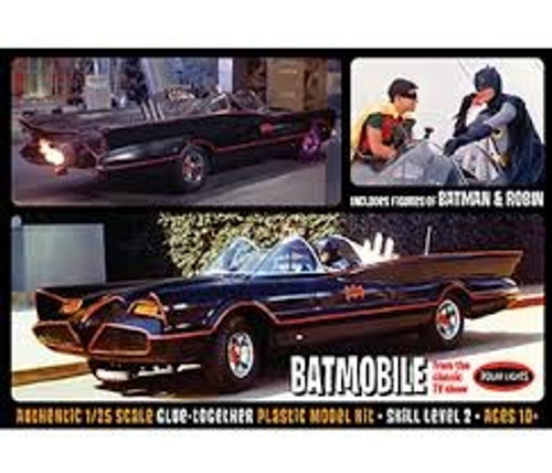 PLL-920  1/25 1966 Batmobile w/Batman & Robin Resin Figures