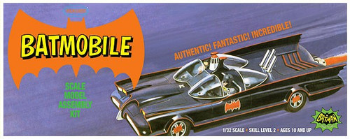 PLL-933  1/32 Classic 1966 Batmobile w/Batman & Robin Resin Figures