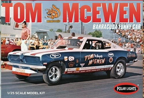 PLL-953  1/25 Tom Mongoose McEwen 1969 Barracuda Funny Car