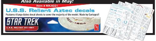 PLL-MKA21  1/537 Star Trek USS Reliant NCC1864 Aztec Decal Set for AMT