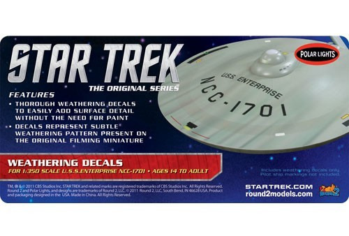 PLL-MKA8  1/350 Star Trek The Original Series USS Enterprise Weathering Decals