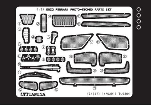 TAM-12652  1/24 Enzo Ferrari Photo-Etched Detail Set