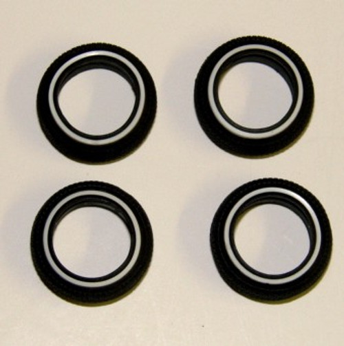 PGH-1016  1/24-1/25 520 Whitewall Tires (4)