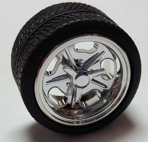 PGH-1279  1/24-1/25 Shueys Chrome Rims w/Tires (4)