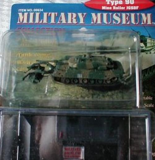 PGH-634  1/144 Type 90 JGSDF Tank w/Mine Roller (Assembled)