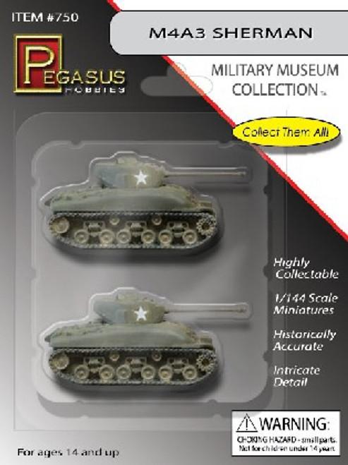 PGH-750  1/144 M4A3 Sherman Tank (2) (Assembled)