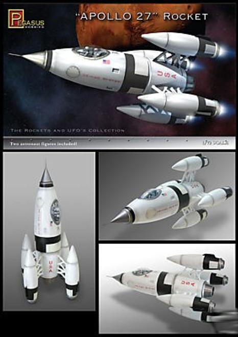 PGH-9101  1/72 Apollo 27 Rocket w/Figures