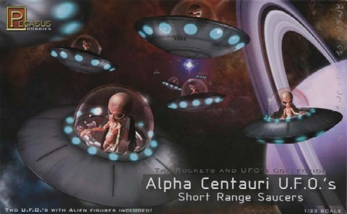 PGH-9102  1/32 Alpha Centauri UFO Short Range Saucers (2)