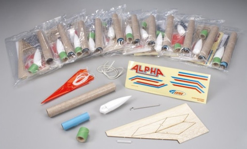 EST-1756  Alpha Model Rocket Kits (Skill Level 1) (12/Bulk Pk)