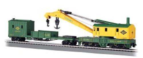BAC16110  HO 250-Ton Steam Crane w/Boom Tender, RDG