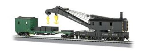 BAC16122  HO 250-Ton Steam Crane w/Boom Tender, C&O