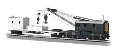 BAC16149  HO 250-Ton Crane w/Boom Tender, Black & Silver
