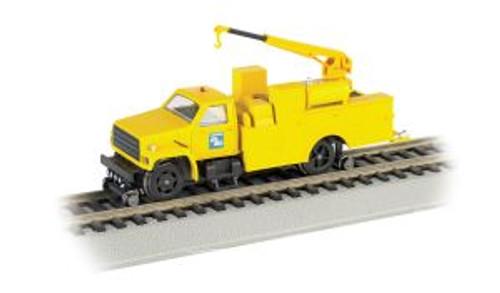 BAC16903  HO Hi-Rail Truck w/DCC & Crane, CR/Yellow