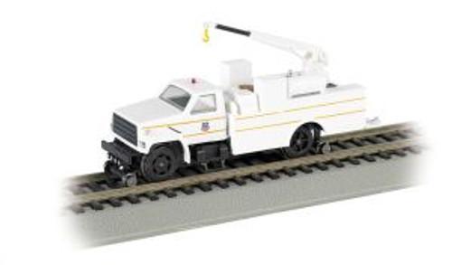 BAC16904  HO Hi-Rail Truck w/DCC & Crane, UP/White/Yellow