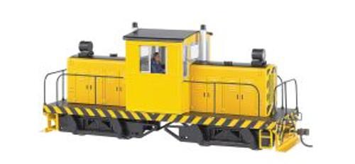 BAC29203  On30 Spectrum 50-Ton Center Cab,Yellow/Blk Stripes