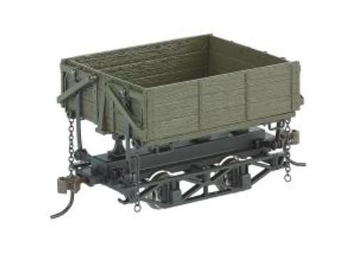 BAC29804  On30 Spectrum Wood Side Dump Car, Green (3)