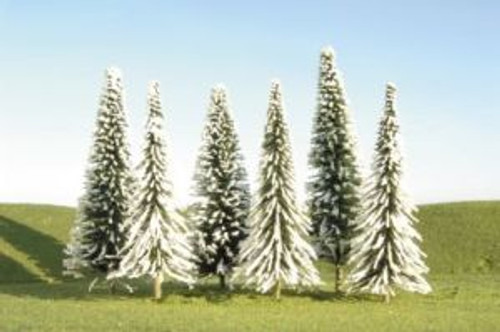 """BAC32102  Scenescapes Pine Trees w/Snow, 3-4"""""""" (9)"""