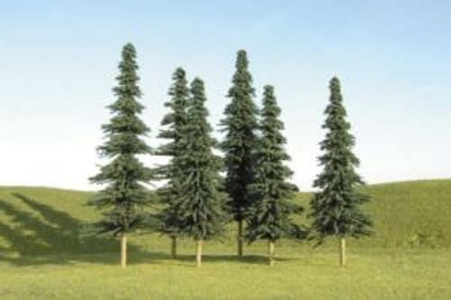 """BAC32104  Scenescapes Spruce Trees, 3-4"""""""" (9)"""