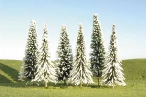 """BAC32154  Scenescapes Pine Trees w/Snow, 5-6"""""""" (24)"""