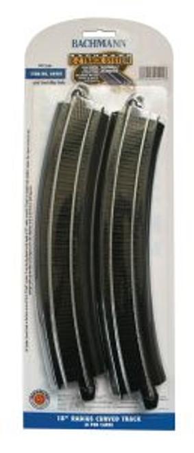 "BAC44401  HO Steel EZ 18"""" Radius Curve (4)"