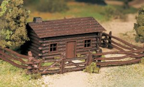 BAC45982  O Snap KIT Log Cabin w/Rustic Fence