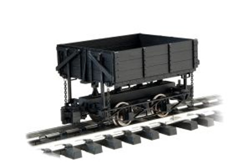 BAC92503  1:20.3 Wood Side Dump Car, Black