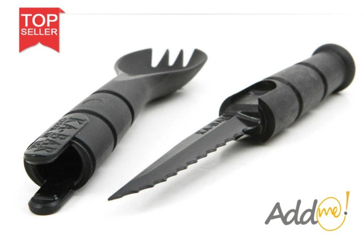 KaBar Spork Serrated Knife in Handle