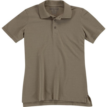5.11 Tactical 61173-160-L 5.11 Womens Utility Polo Silver Tan L