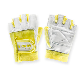 Grizzly Fitness 8758-56 Grizzly Womens Yellow Grizzly Paw Gloves - Large