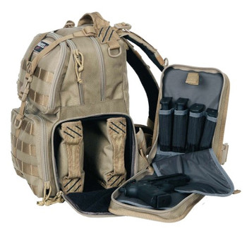 G Outdoors GPS-T1612BPT G.P.S. Tactical Range Backpack Tan GPS-T1612BPT