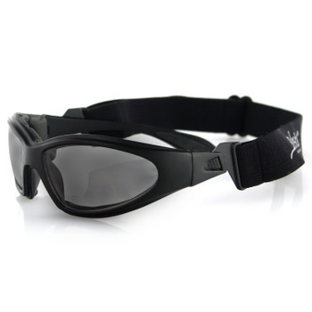 Bobster GXR001 Bobster GXR Sunglasses-Matte Black Frame with Smoked Lens