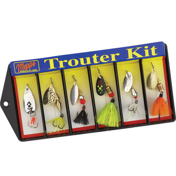 Mepps K1D Mepps Trouter Kit - Plain and Dressed Lure Assortment