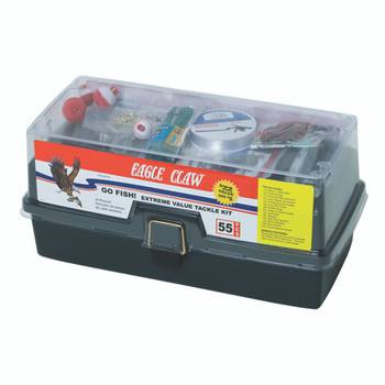 Eagle Claw KTKLBXFW-D Eagle Claw Go Fish Extreme Tackle Box Kit  KTKLBXFW-D