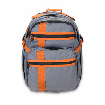 US PeaceKeeper P50325 US Peacekeepers INCOG Backpack Grey/Rust 12.5x18x8