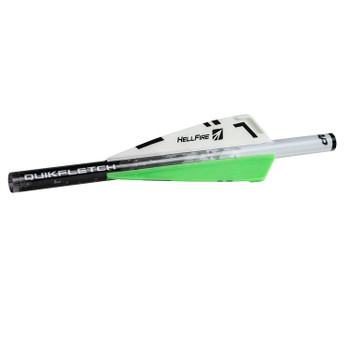 New Archery Products 60-016 NAP Quikfletch 3in Hellfire Std - 6 Pack White/Green/Green