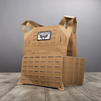 AR500 Body Armor Invictus Plate Carrier Coyote