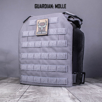 AR500 Body Armor® Guardian Plate Carrier Wolf Gray Standard MOLLE (GUARDIANGRY)