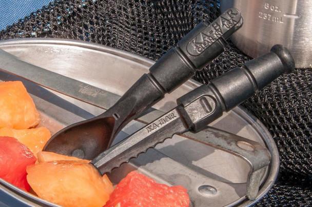 KA-BAR 9909 Tactical Spork with Hidden Serrated Knife, Polymer