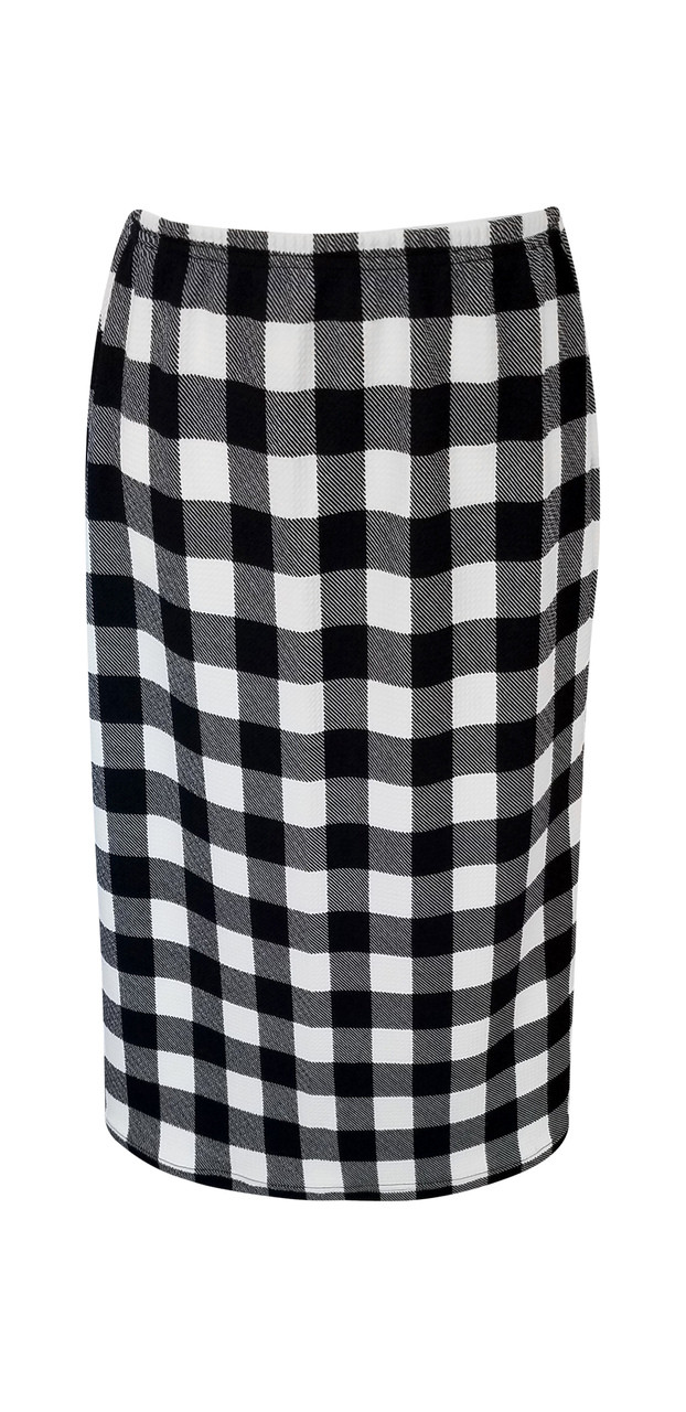 2019 authentic new release pretty cool Modern Black and White Plaid Skirt