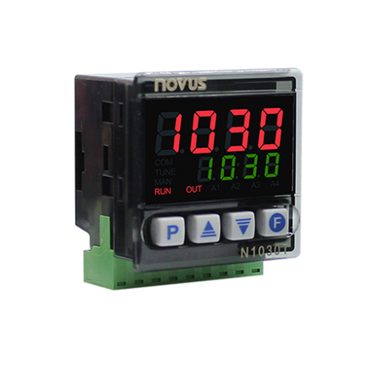 N1030T-PR 24V Timer/Temp. controller, 1 relay + pulse out, 48x48 mm