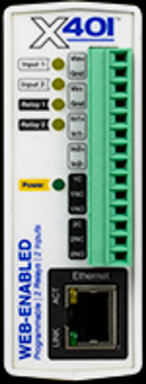 Web-Enabled 2 I/O Controller I/O: 2 Digial Inputs, 2 Relays  Power Supply: 9-28VDC