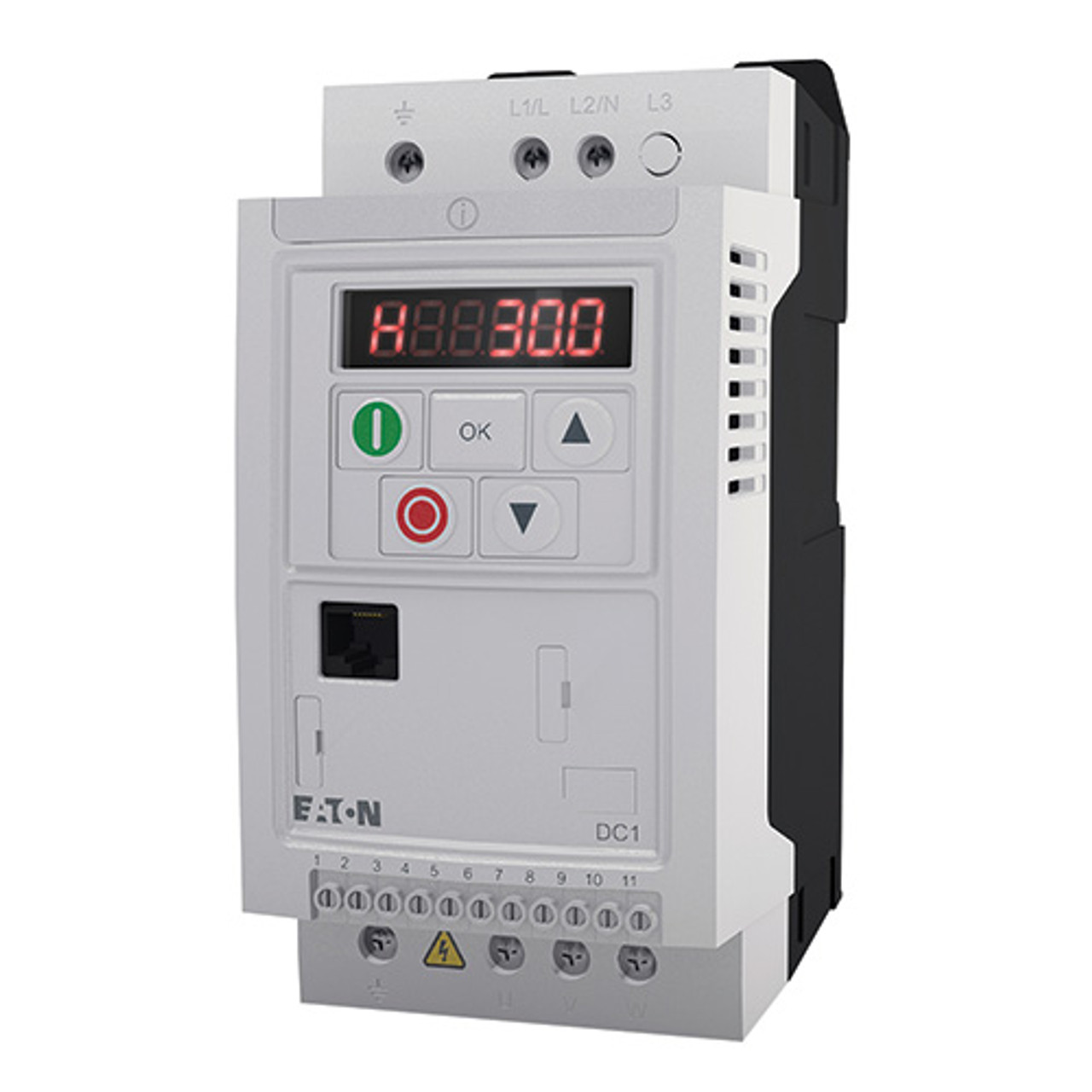 1HP 230V 1PH In / 230 3PH Out, IP20 DC1 VFD