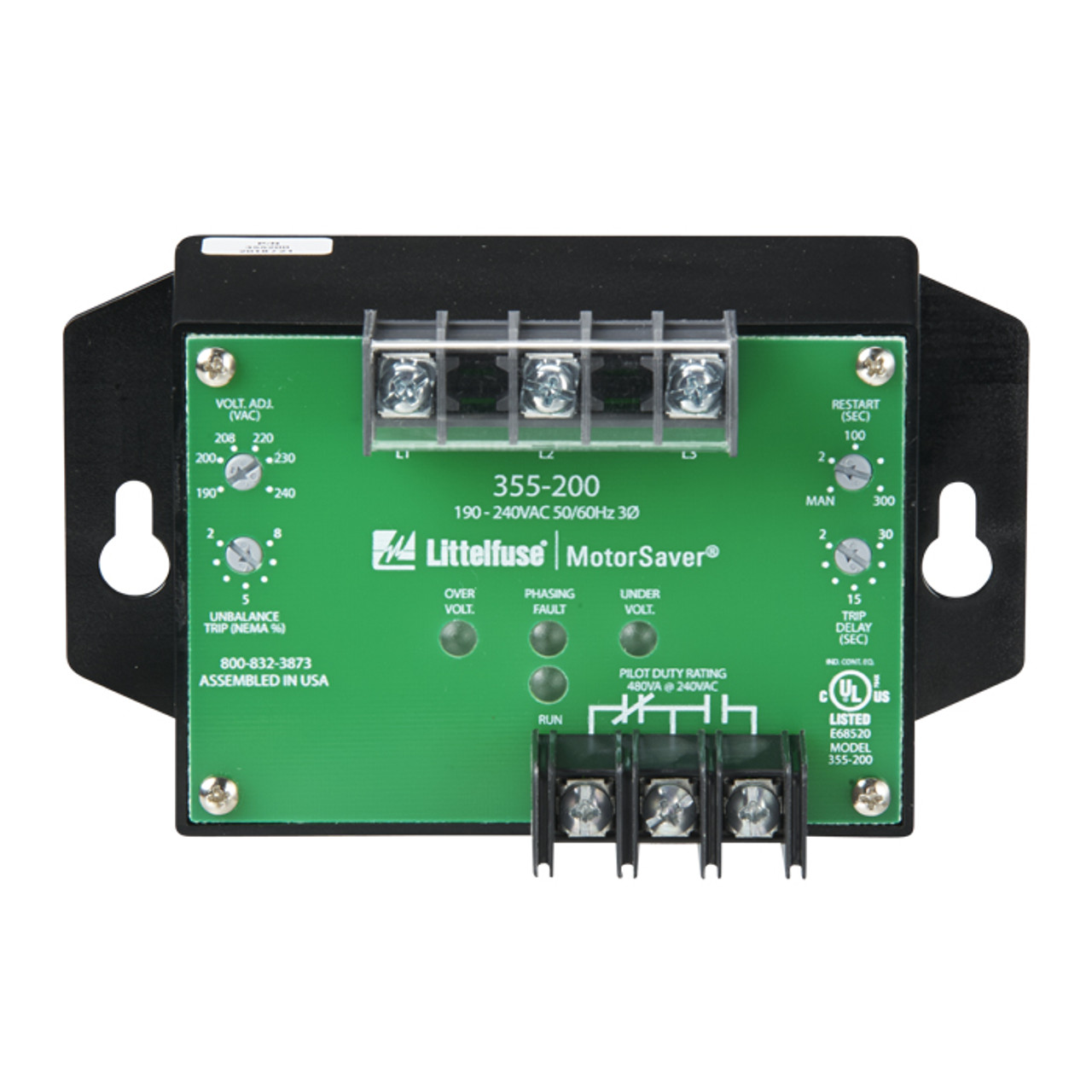 3-PHASE VOLTAGE MONITOR 190 to 240VAC