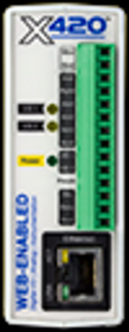 Web-Enabled Instrumentation-Grade Data Acquisition I/O: 4-Analog Input, 2-Digital I/O, 1-Wire Bus (Up to 16 temp/humidity sensors) Power Supply: POE